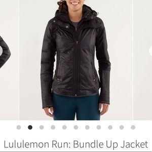 EUC Lululemon Run:Bundle Up Jacket Black